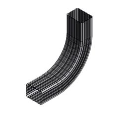 """Atas Metals 3"""" x 4"""" A Corrugated Downspout """"A"""" Style Elbow"""