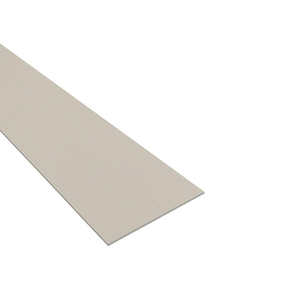 "James Hardie 1/4"" 12"" x 12' HardieSoffit® Non-Vented Cedarmill Panel Cobble Stone"