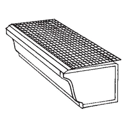 """Berger Building Products 5"""" x 3' K-Style Drop-In Mill Finish Aluminum Gutter Guard"""