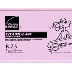 "Owens Corning 3/4"" x 48"" x 96"" Tongue & Groove Pink Board"