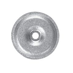 "Versico 2"" Flat Bottom 20 Gauge Metal HPV Plate - Box of 1,000"