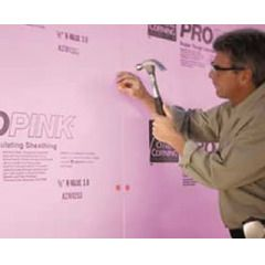 "Owens Corning 1/2"" x 4' x 8' ProPink Insulating Sheathing"