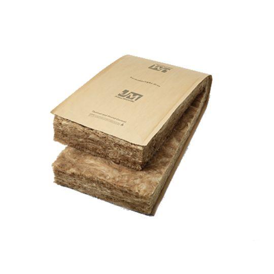 "Johns Manville 3-1/2"" x 15"" x 32' R-13 Kraft-Faced Fiberglass Roll Insulation - 40 Sq. Ft. per Bag"