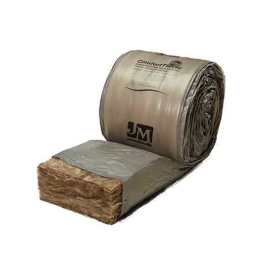 "Johns Manville 3-1/2"" 15"" x 32' ComfortTherm® Poly-Wrapped Fiberglass Roll Insulation 40 Sq. Ft. Roll"