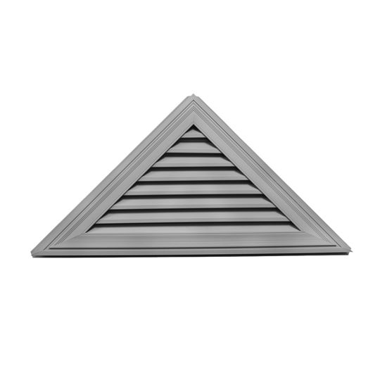"""Mid-America Siding Components 26"""" x 52"""" Triangle Gable Vent with 12/12 Pitch White (001)"""
