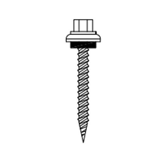 "Coastal Metal Service 1-1/2"" Wood Screw Hilton Head Green"