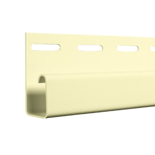 "CertainTeed Vinyl Building Products 1/2"" Pocket J-Channel - Matte Finish Natural Clay"