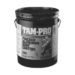 TAMKO TAM-PRO 840 2 Lb. Fibered Aluminum Roof Coating - 5 Gallon Pail
