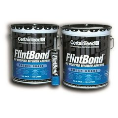 CertainTeed Roofing FlintBond Modified Bitumen Brush Grade Adhesive - 5...