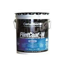 CertainTeed Roofing FlintCoat-W Elastomeric Acrylic Roof Coating - 5...