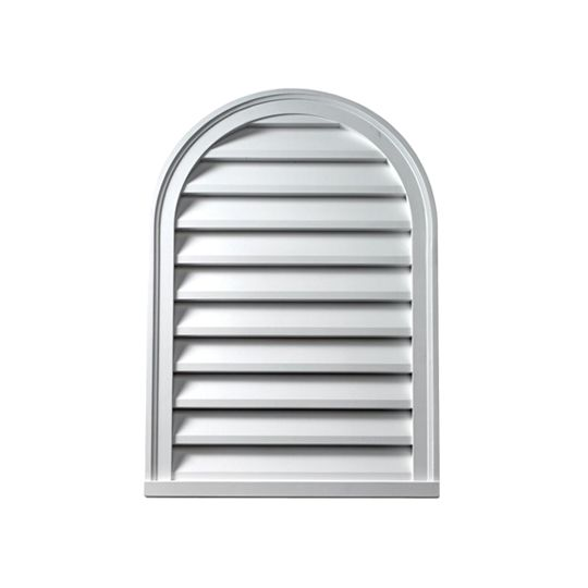 """Fypon Molded Millwork 22"""" x 31"""" Decorative Cathedral Louver"""