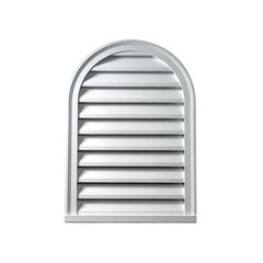 "Fypon Molded Millwork 22"" x 31"" Decorative Cathedral Louver"