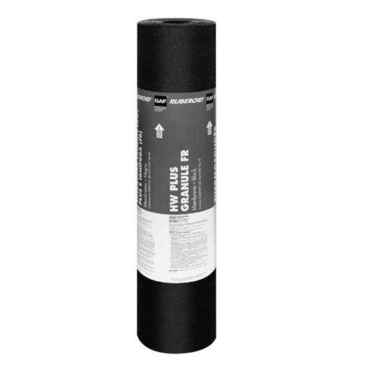 "GAF 0.165"" 39-5/8"" x 32.6' RUBEROID® HW Plus Granule FR Membrane 1 SQ. Roll White"