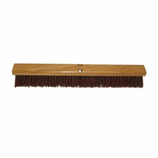 "C&R Manufacturing 24"" Synthetic Bristle Floor Broom Maroon"