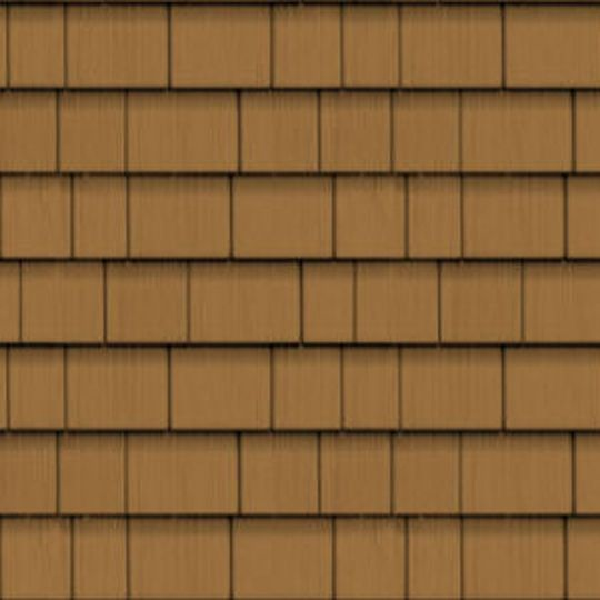"CertainTeed Vinyl Building Products Cedar Impressions® Triple 5"" Straight Edge Perfection Polymer Shingle Siding - Cedar Grain Finish Hearthstone"
