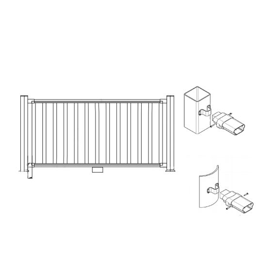Certainteed - Evernew Kingston Flat Rail Kit Square Baluster 36X6' Almond