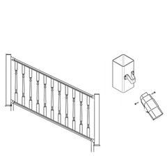 Certainteed - Evernew Kingston Stair Kit Square Baluster 36X6'