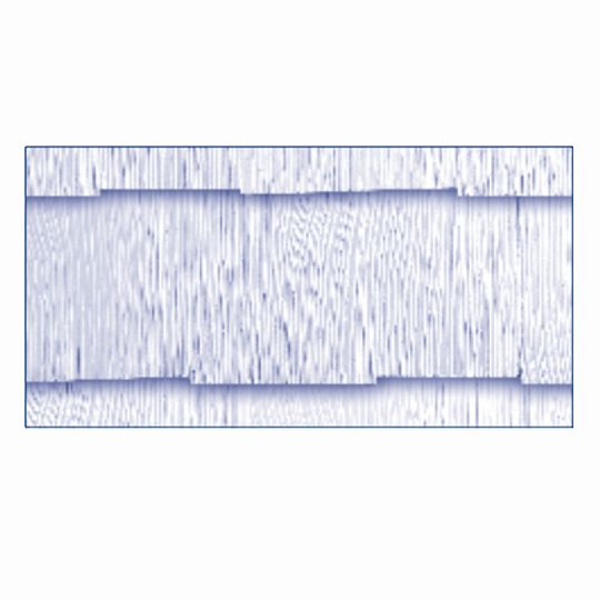 "GAF 11/64"" 12"" x 24"" WeatherSide™ Purity™ Shingle with Straight Edge Fiber-Cement Siding Bundle of 18"