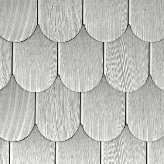"James Hardie 1/4"" 19"" x 4' HardieShingle® Side Half Round Panel Primed"