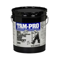 TAMKO TAM-PRO 803 Wet or Dry Surface Plastic Roof Cement - 5 Gallon Pail