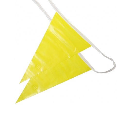 The Brush Man 100' OSHA Pennant Flags Yellow