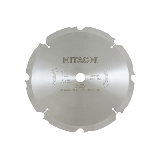 "Hitachi 12"" Fiber Cement Saw Blade - 8 Teeth"