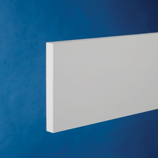"""CertainTeed Vinyl Building Products 1"""" x 8"""" x 18' Restoration Millwork® Trimboard - Smooth/Smooth Natural White"""