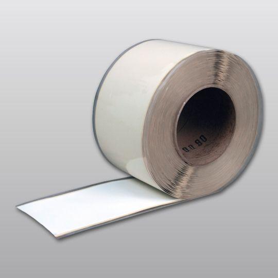 "Carlisle Syntec 90 mil 12"" x 50' Sure-White® EPDM Pressure-Sensitive Cured Coverstrip White"