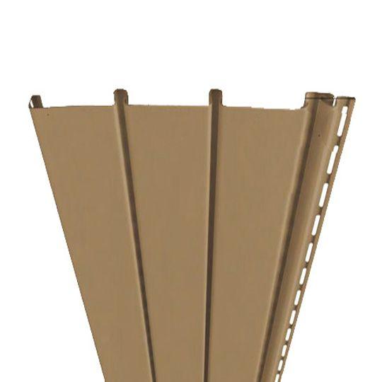 "Mastic Ventura Triple 3-1/3"" Ventilated Hidden Vent Vinyl Soffit Panel Misty Shadow"