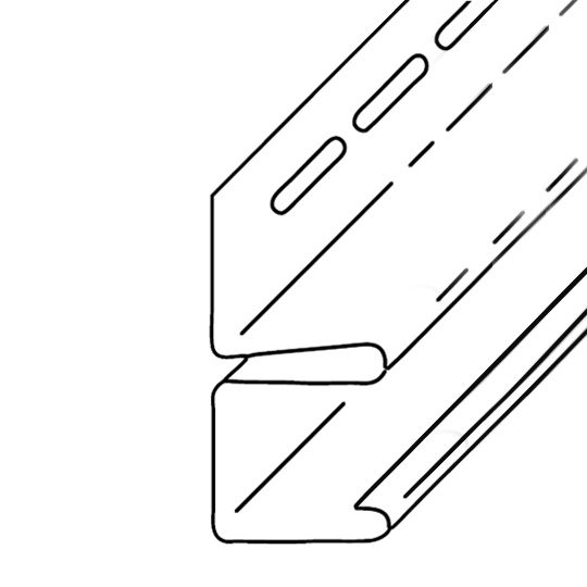 "KP Building Products 1/2"" x 12'6"" F-Channel Cobblestone Wicker"