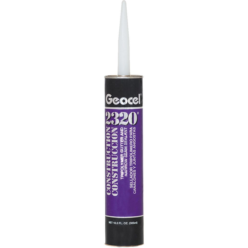 Geocel 2320 Construction Tripolymer Gutter & Narrow Seam Sealant - 10.3 Fl. Oz. Cartridge Aluminum Grey