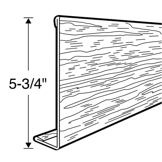 Rollex 12' SL6 Woodgrain Steel Fascia Almond