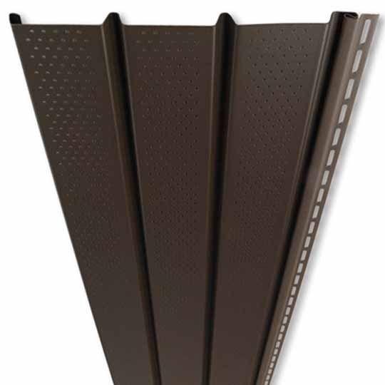 """Mastic Pro-Tech Plus Triple 4"""" Ventilated Vinyl Soffit Panel Almond"""