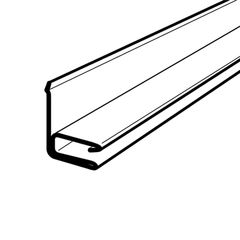 "Alsco Metals 3/8"" Aluminum F-Channel for T4/Q4 Soffit"