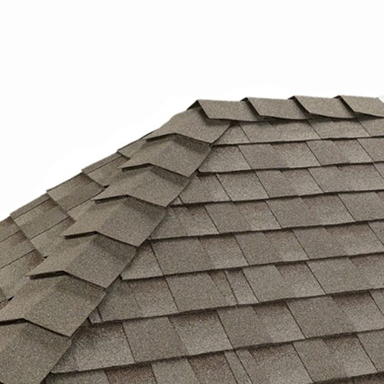 "GAF 10"" Ridglass® SBS-Modified Premium Ridge Cap Shingles Antique Brown/Stonewood"