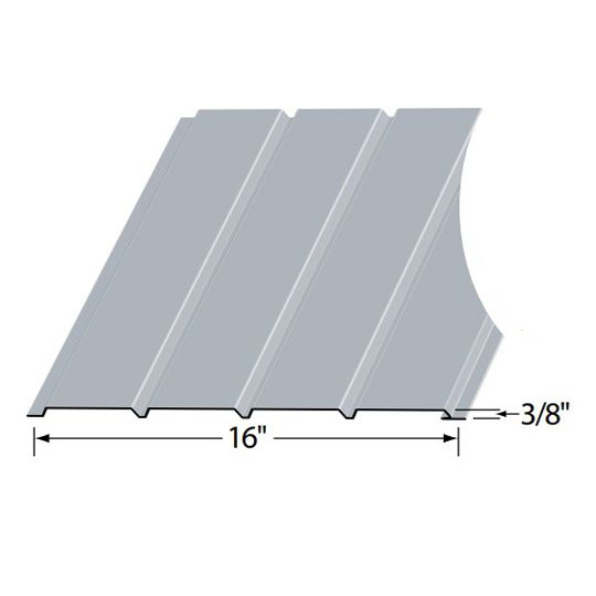 Edco Products Aluma-Kore Plain Quad Solid Soffit - PVC Finish Colonial White