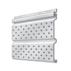 """Royal Building Products Double 5"""" Fully-Vented Soffit - Brush Finish"""