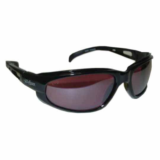 C&R Manufacturing Dakura Safety Glasses Black Frame/Blue Mirror Lens