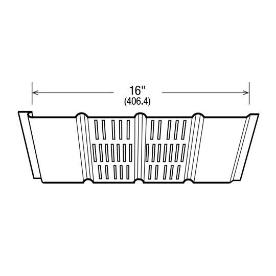 "Gentek 16"" Hi-Tensile Quad-4 Center Vented Aluminum Soffit Brownstone"
