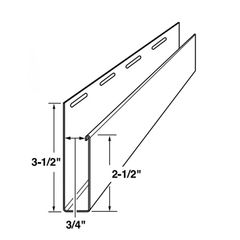 "Mastic 2-1/2"" x 3/4"" Wide Window Casing Trim"
