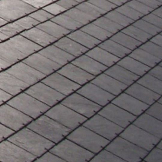 "SSQ International 18"" x 10"" Del Carmen Grey Roofing Slate Grey"