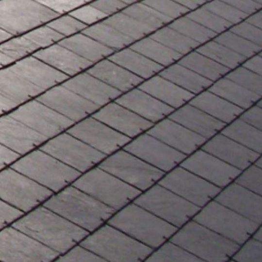 "SSQ International 24"" x 12"" Del Carmen Grey Roofing Slate Grey"