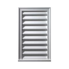 "Fypon Molded Millwork 12"" x 24"" Decorative Vertical Louver"