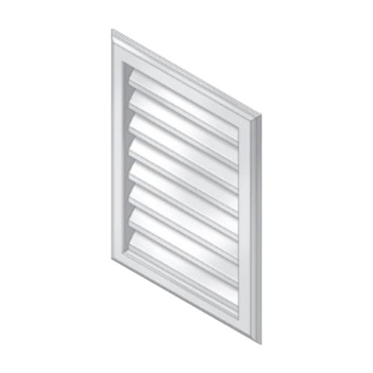 "Royal Building Products 15"" x 20"" Gable Vent Victorian Grey"