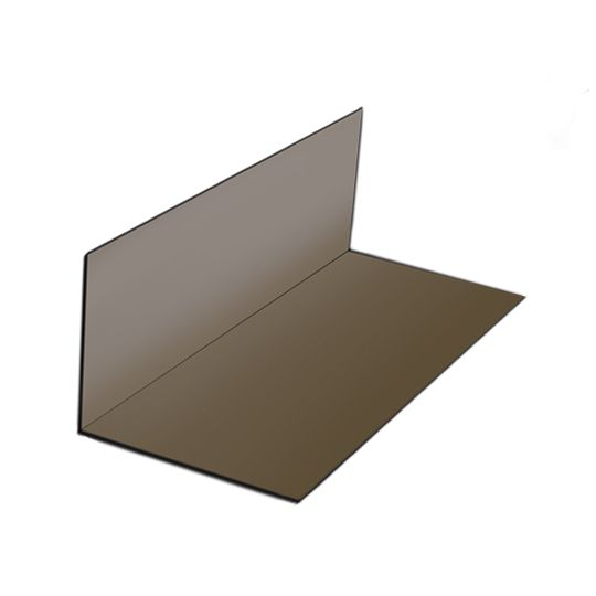 """Quality Edge 2-1/2"""" x 2-1/2"""" x 7"""" Pre-Bent Aluminum Step Flashing - Sold Individually Mill Finish"""