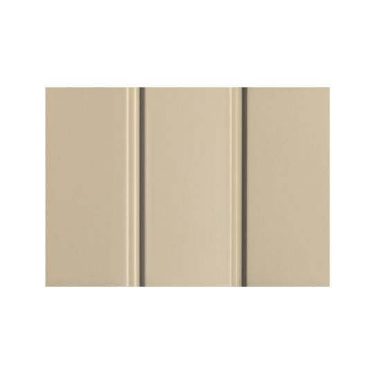 """Quality Edge .019"""" x 12"""" x 12' TruLine® HP-Series Aluminum Solid Soffit Sable"""