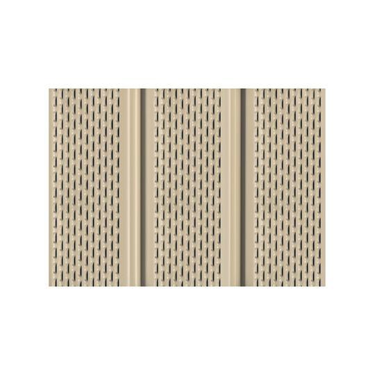 "Quality Edge .019"" x 12"" x 12' TruLine® HP-Series Aluminum Fully Vented Soffit Herringbone"