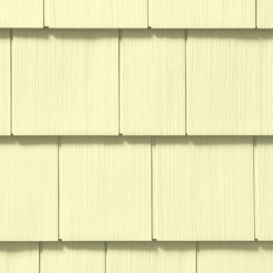 "CertainTeed Vinyl Building Products Cedar Impressions® Double 7"" Straight Edge Perfection Polymer Shingle Siding - Cedar Grain Finish Autumn Red"