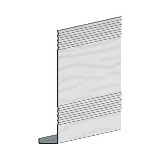 "Edco Products 6"" Steel Fascia Cover - Enamel Finish Polar White"