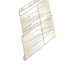 """Quality Aluminum Products Double 4"""" Deluxe Roughwood Aluminum Siding"""
